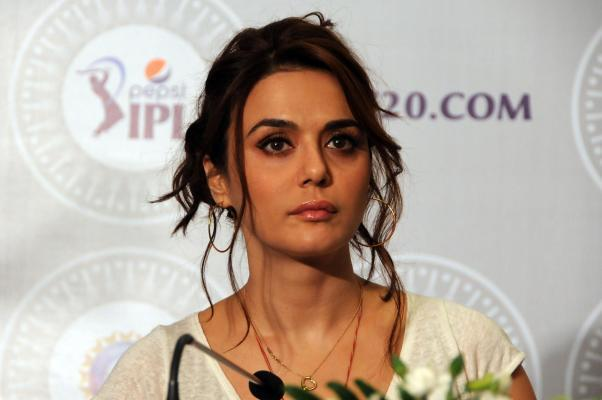 Actress Preity Zinta during the two-day player auctions for the seventh edition of the Indian Premier League(IPL) in Bangalore on Feb.12, 2014. (Photo: IANS)