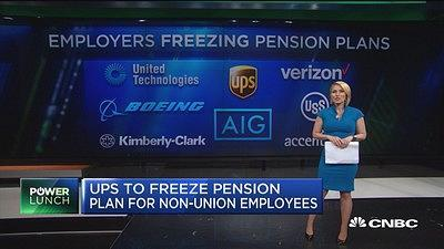 CNBC's Morgan Brennan reports on UPS freezing pensions for non-union employees and trends in other companies.