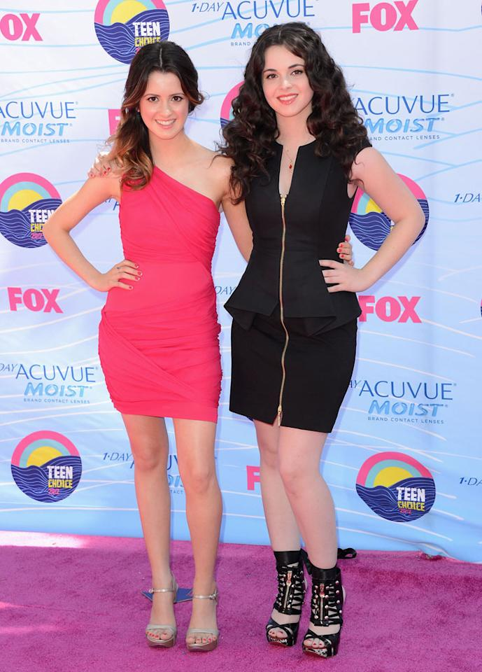 UNIVERSAL CITY, CA - JULActresses Laura Marano and Vanessa Marano arrive at the 2012 Teen Choice Awards at Gibson Amphitheatre on July 22, 2012 in Universal City, California.Y 22:  Actresses Laura Marano and Vanessa Marano arrive at the 2012 Teen Choice Awards at Gibson Amphitheatre on July 22, 2012 in Universal City, California.  (Photo by Jason Merritt/Getty Images)