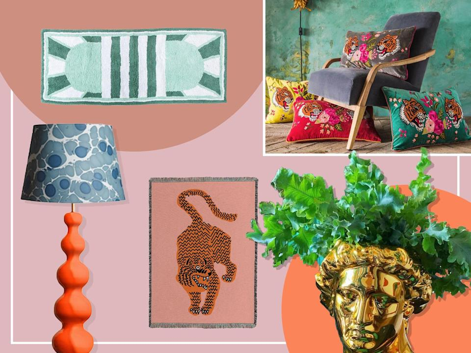<p>Move over minimalism – bright and bold is the new order of the day</p> (iStock/The Independent)