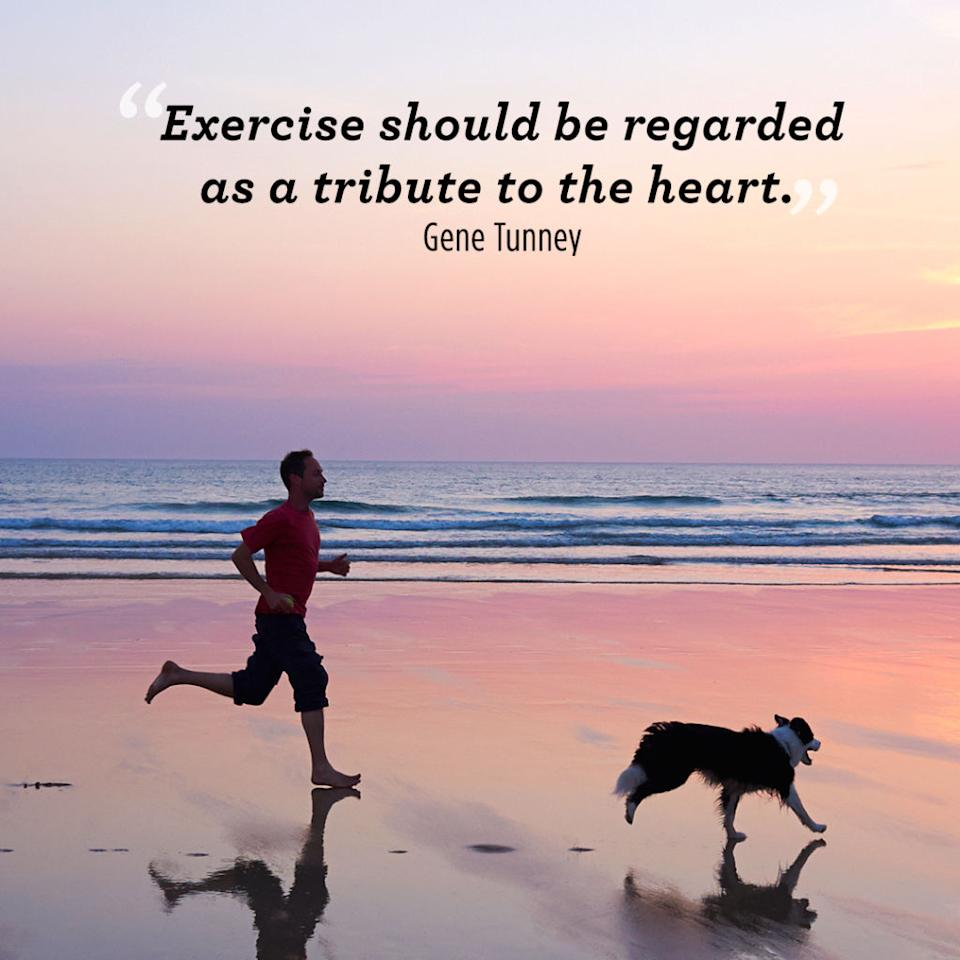 """<p>""""Exercise should be regarded as a tribute to the heart.""""  </p>"""