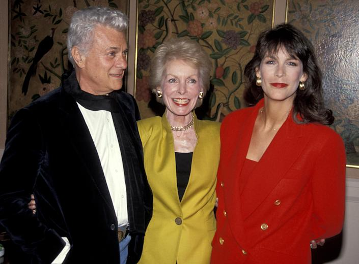 Tony Curtis, Janet Leigh, and Jamie Lee Curtis (Jim Smeal / Ron Galella Collection via Getty Images)