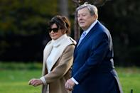 """<p>When Melania and Barron Trump <a href=""""http://www.townandcountrymag.com/society/politics/news/a9458/melania-and-barron-trump-white-house-move/"""" rel=""""nofollow noopener"""" target=""""_blank"""" data-ylk=""""slk:moved from Trump Tower in New York City to the White House"""" class=""""link rapid-noclick-resp"""">moved from Trump Tower in New York City to the White House</a> during the summer of 2017, Melania's parents, Viktor Knavs, 78, and Amalija Knavs, 75, accompanied them on the trip. They've since become familiar faces in the nation's capital—and can often be seen traveling alongside President Trump and the First Lady. Here's what you should know about the couple that raised Melania Trump.</p>"""
