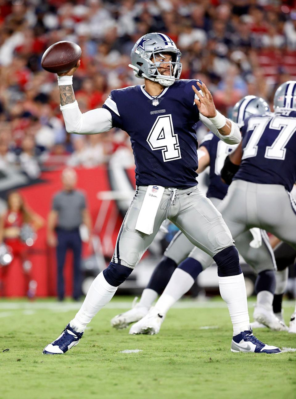 Dak Prescott's new contract with the Dallas Cowboys paid him a jaw-dropping $66 million signing bonus.