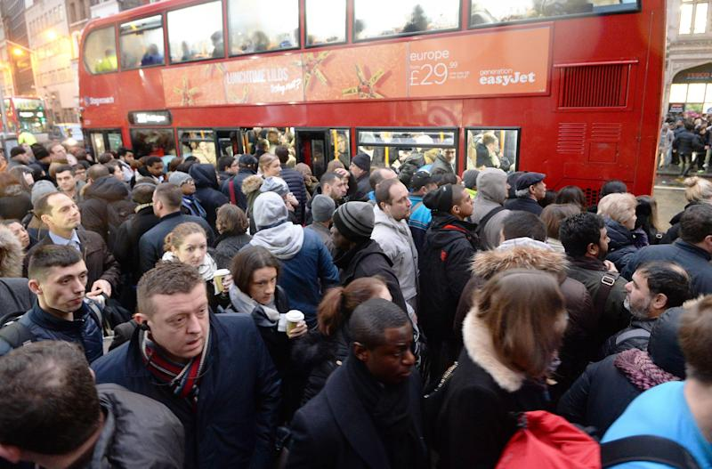Tube strike: The walkout will hit the Monday rush hours: John Stillwell/PA