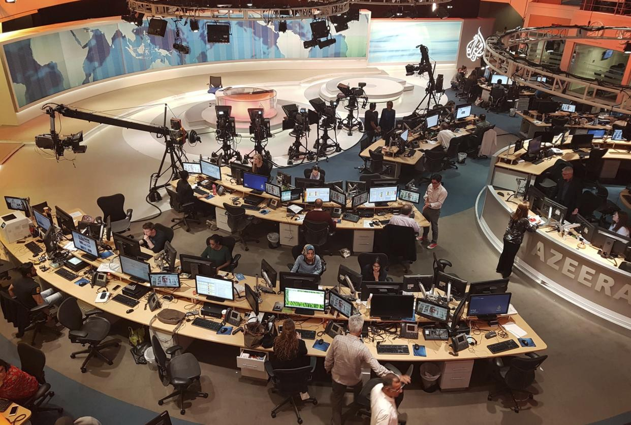 Al Jazeera was reportedly the target of increasingly sophisticated attacks linked to both Saudi Arabia and the United Arab Emirates, according to a Citizen Lab report. (Malak Harb/AP Photo)