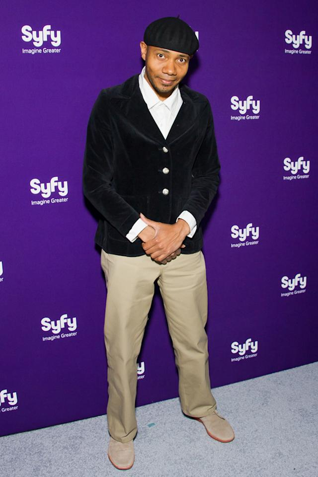 DJ Spooky attends Syfy's 2012 Upfront event at the American Museum of Natural History on April 24, 2012 in New York City.