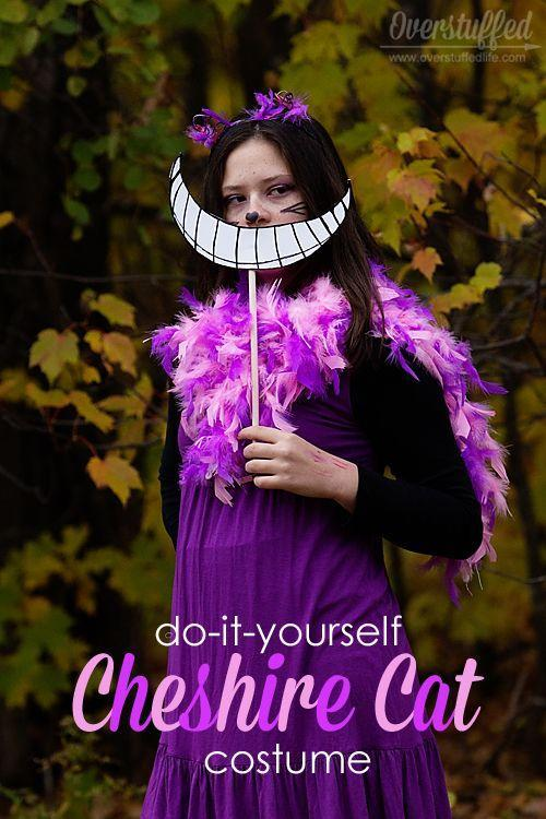 "<p>No Cheshire Cat costume is complete without a big grin. We love this fun alternative to makeup. </p><p><strong>Get the tutorial at <a href=""https://www.overstuffedlife.com/2014/09/diy-cheshire-cat-costume.html"" rel=""nofollow noopener"" target=""_blank"" data-ylk=""slk:Overstuffed"" class=""link rapid-noclick-resp"">Overstuffed</a>. </strong></p><p><a class=""link rapid-noclick-resp"" href=""https://www.amazon.com/FeatherStoree-Gram-Chandelle-Feather-Boa/dp/B07XDCHLGL/ref=sr_1_1?tag=syn-yahoo-20&ascsubtag=%5Bartid%7C10050.g.29343502%5Bsrc%7Cyahoo-us"" rel=""nofollow noopener"" target=""_blank"" data-ylk=""slk:SHOP FEATHER BOAS"">SHOP FEATHER BOAS</a></p>"