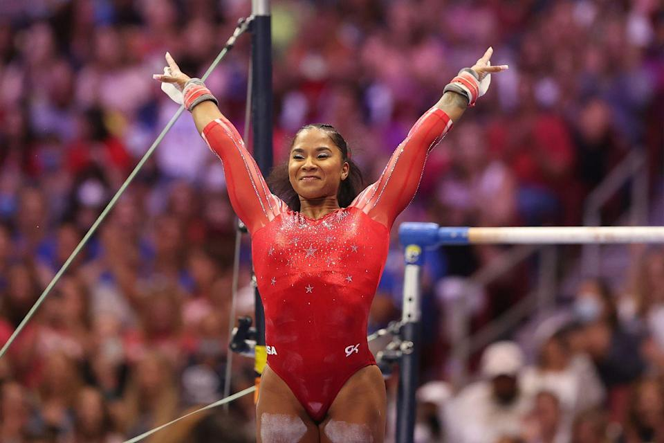 <p><strong>Sport: </strong>Gymnastics</p><p>After nearly quitting the sport in 2018 following a disappointing season, fellow teammate Simone Biles encouraged her to continue on with gymnastics and join her team in Spring, Texas. Chiles is now headed to her first Olympics, competing in Tokyo in the women's team event.<br></p>