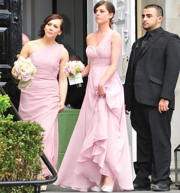 Giovanna Was Hidden From Waiting Paps By Ds Of Security But A Sneaky K Revealed Her Looking Absolutely Divine In Sparkly Bodice And Full Skirt