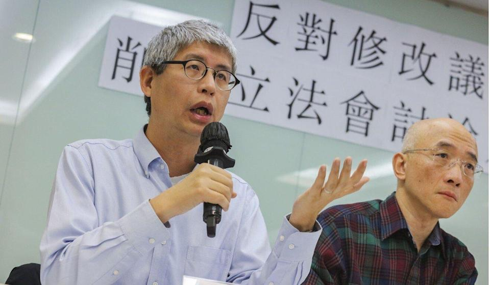 Political scientist Ma Ngok (left) says he is losing the will to carry on writing. Photo: Felix Wong