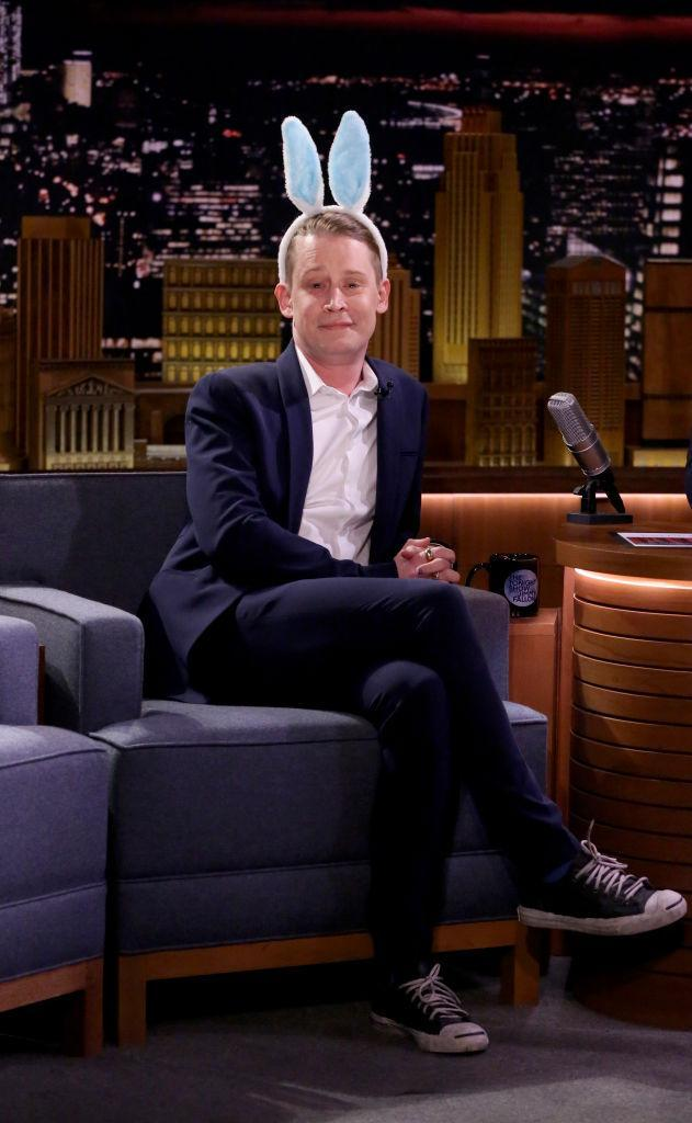 Macaulay Culkin appears on <em>The Tonight Show Starring Jimmy Fallon</em> on March 2. (Photo: Andrew Lipovsky/NBC/NBCU Photo Bank via Getty Images)
