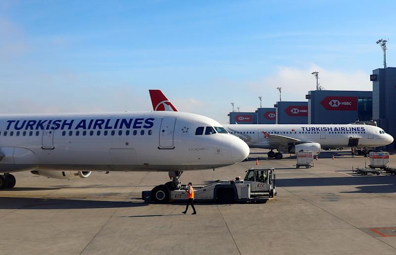Turkish Airlines planes sit at Istanbul New Airport, Turkey May 27, 2019. REUTERS/Amr Abdallah Dalsh
