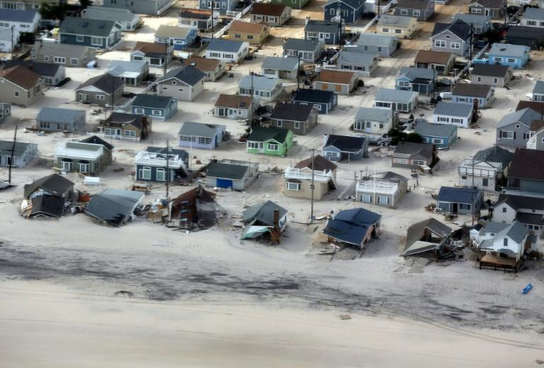 Storm damage on the Atlantic Coast after Hurricane Sandy in 2012