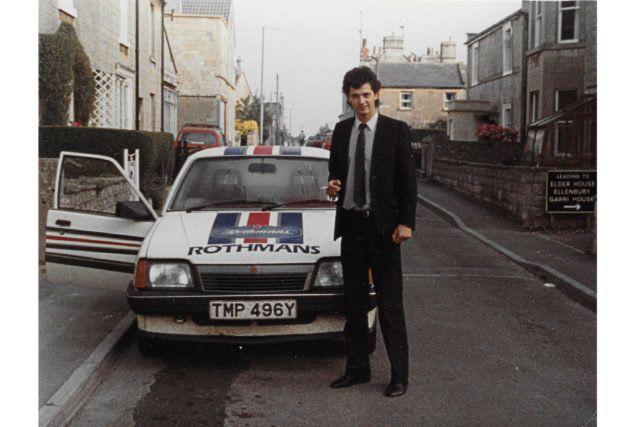 <strong>Simon Neale with his Rothmans-branded car.</strong> (Photo: Handout/PA)