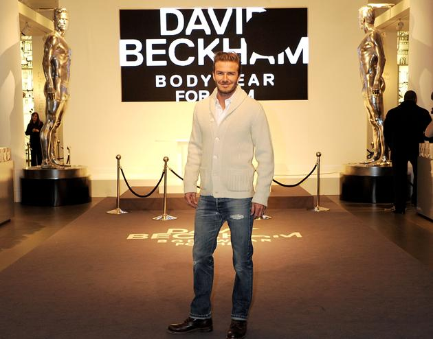Beckham couldn't wait to show the Academy his Oscar redesign (Getty)