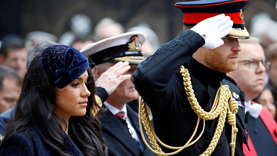 prince harry and meghan criticised over remembrance day visit prince harry and meghan criticised over