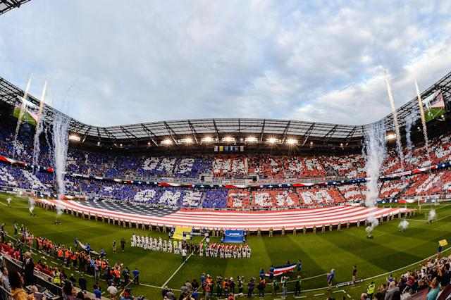 Red Bull Arena was packed for last year's World Cup qualifier between the United States and Costa Rica. (Getty)