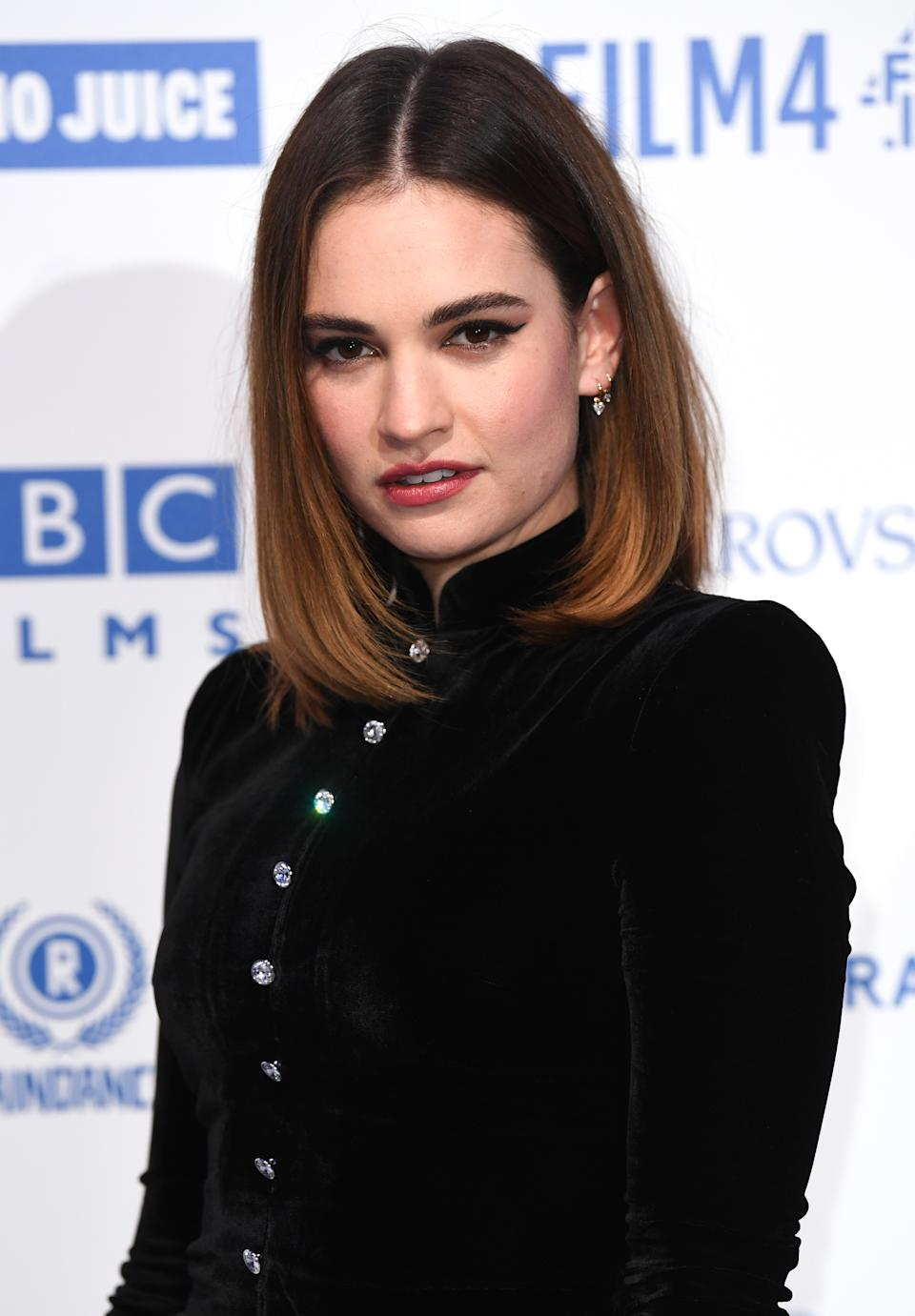 Lily James attending the 22nd British Independent Film Awards held at Old Billingsgate, London. Picture credit should read: Doug Peters/EMPICS