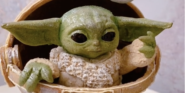 This Gingerbread Baby Yoda Would Win Any Family Baking Contest The youtube star reacted to the adorable star wars character in a recent video and things escalated quickly. this gingerbread baby yoda would win