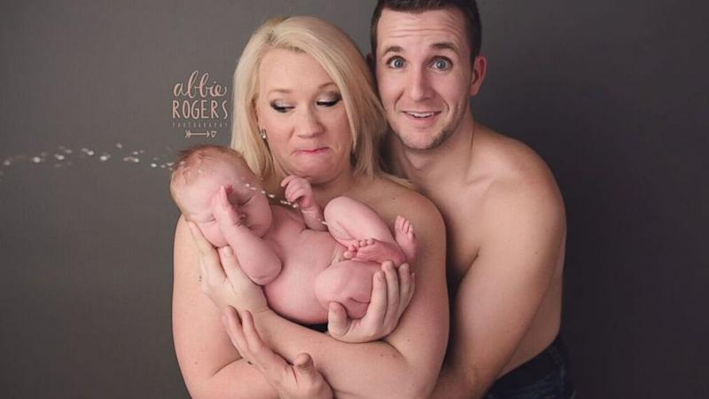 Newborn Surprises Parents With a Bathroom Emergency During Photo Shoot