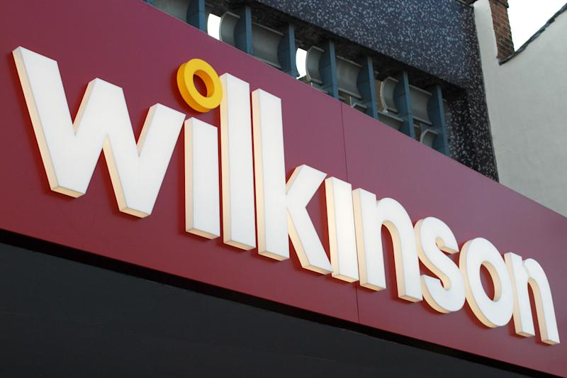 File photo dated 05/10/09 of a Wilkinson store sign. Around 1,800 workers at two Wilko distribution centres are to strike in a dispute over contracts.