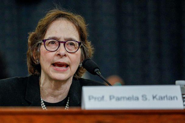 PHOTO: Pamela Karlan, professor of Public Interest Law and co-director of the Supreme Court Litigation Clinic at Stanford Law School, testifies during a House Judiciary Committee hearing on Capitol Hill in Washington, Dec. 4, 2019. (Tom Brenner/Reuters)
