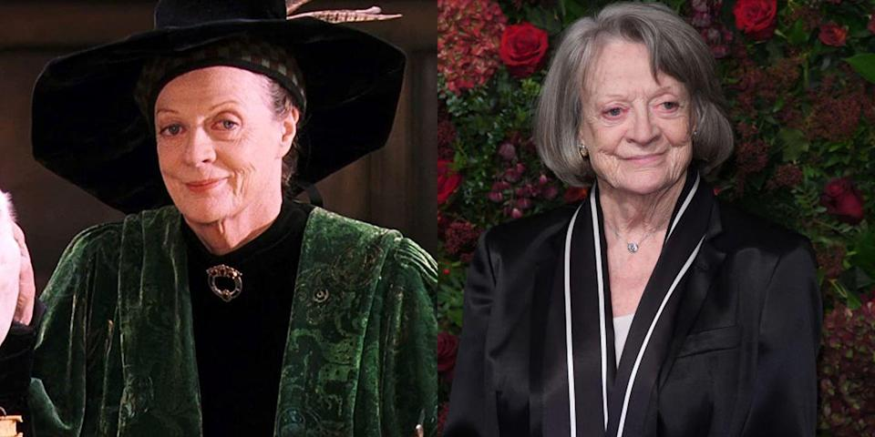<p><strong>First Film: </strong><em>Harry Potter and the Sorcerer's Stone </em></p><p><strong>Character Played: </strong>Professor McGonagall</p><p><strong>Age: </strong>85</p><p>In the years after the end of <em>Harry Potter</em>, Smith appeared in another incredibly successful franchise: <em>Downton Abbey</em>. But you can also find the legendary actress in films like <em>Sister Act</em>, <em>The Lady in the Van</em>, and <em>California Suite</em>. </p>