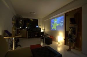HDB flat with indoor theatre