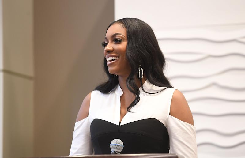 ATLANTA, GA - FEBRUARY 25: TV personality Porsha Williams speaks onstage at 2018 Hosea's Heroes Awards at Loudermilk Conference Center on February 25, 2018 in Atlanta, Georgia. (Photo by Paras Griffin/Getty Images)