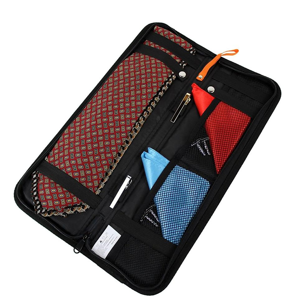 <p>This <span>Travel Tie Case Organizer</span> ($11) is ideal for keeping ties nice and pressed while traveling.</p>