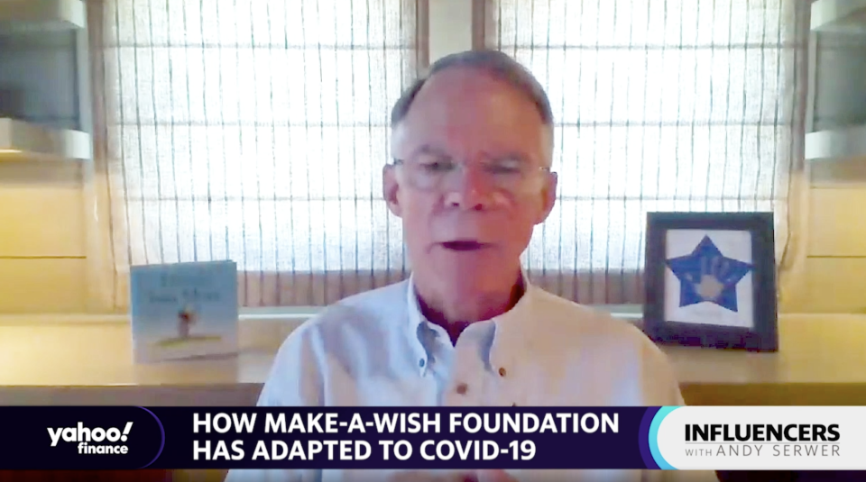 "Make-a-Wish Foundation CEO Richard Davis appears on ""Influencers with Andy Serwer."""