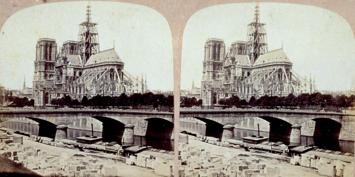 """<div class=""""inline-image__caption""""> <p>The back of Notre Dame Cathedral in Paris around 1880.</p> </div> <div class=""""inline-image__credit""""> Unidentified Author/Alinari via Getty </div>"""