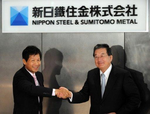 Nippon Steel and Sumitomo Metal Industries formally merged on Monday, creating the world's second largest steelmaker