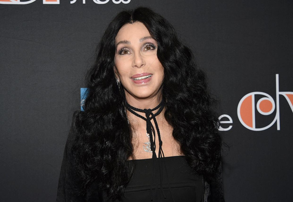 """Cher attends """"The Cher Show"""" Broadway musical opening night at the Neil Simon Theatre on Monday, Dec. 3, 2018, in New York. (Photo by Evan Agostini/Invision/AP)"""