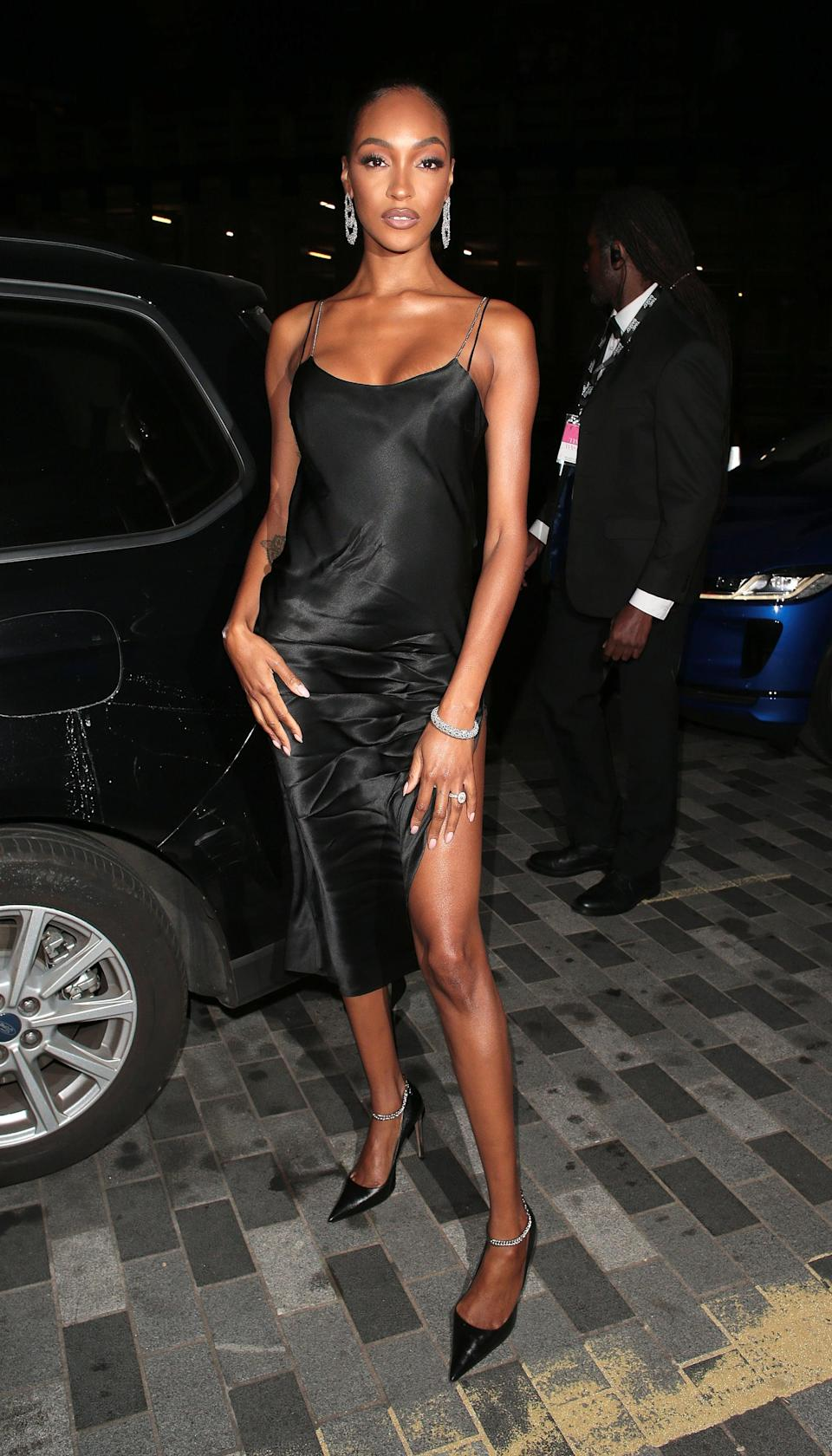 <p>Jourdan Dunn reminded us how elegant the little black slip dress is when she stepped out for the <b>GQ</b> Men of the Year Awards. </p>