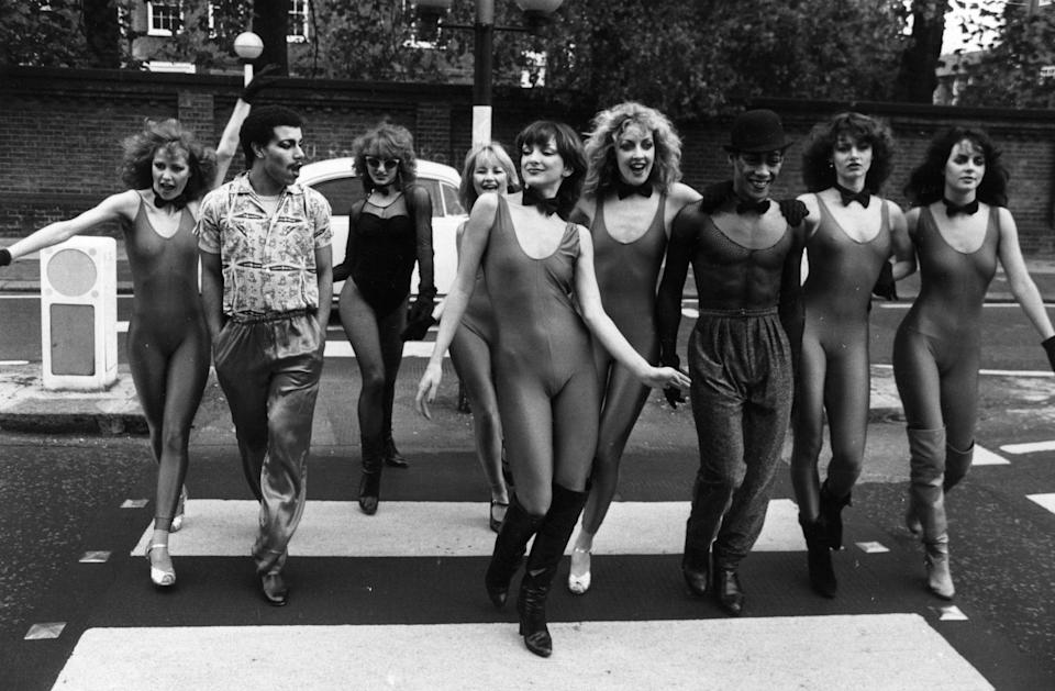 24th October 1978:  Dance group Hot Gossip, who will be appearing regularly on former Radio One DJ Kenny Everett's weekly television comedy programme.  (Photo by M. Fresco/Evening Standard/Getty Images)