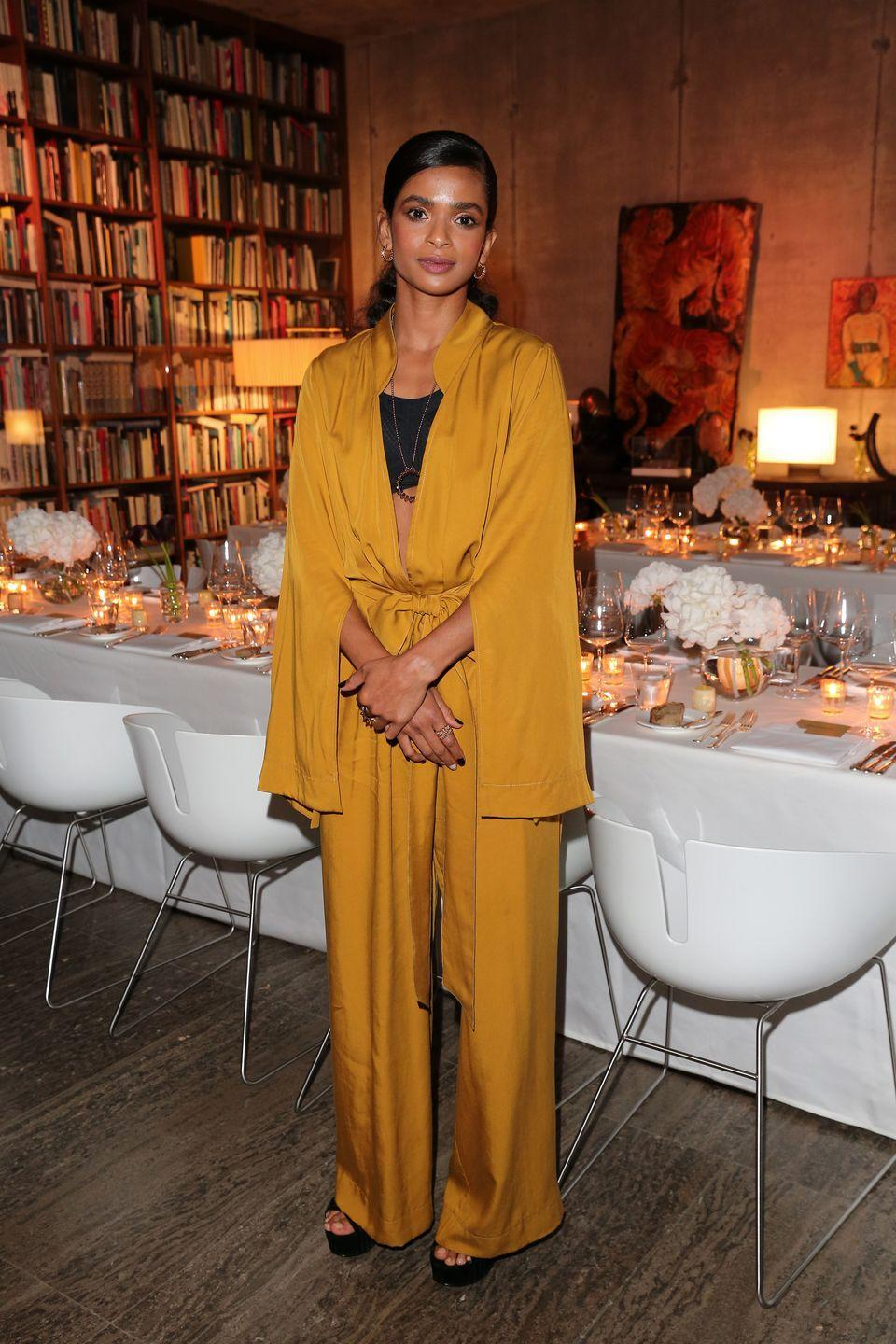 <p><strong>21 September</strong></p><p>Ramla Ali wore a silk jumpsuit with Cartier jewellery. </p>