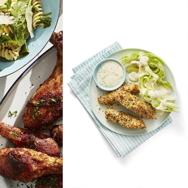 """<p>Chicken fingers are always a win, but these seasoned bites will become your family's favorite after just one bite. </p><p><em><a href=""""https://www.womansday.com/food-recipes/food-drinks/a28797753/everything-chicken-fingers-with-wedge-salad-recipe/"""" rel=""""nofollow noopener"""" target=""""_blank"""" data-ylk=""""slk:Get the Everything Chicken Fingers with Wedge Salad recipe."""" class=""""link rapid-noclick-resp"""">Get the Everything Chicken Fingers with Wedge Salad recipe.</a></em></p>"""