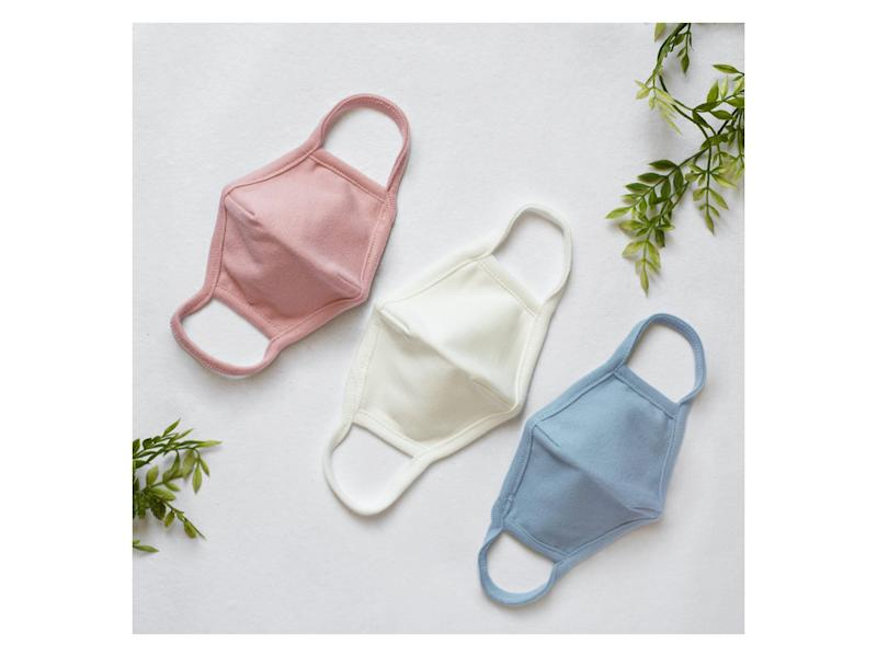 This American apparel brand has made soft cotton washable face masks for children aged two to eightAlex and Nova