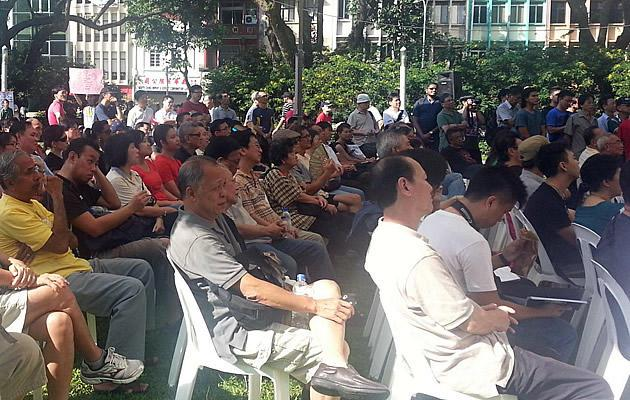 Final White Paper protest at Hong Lim Park attracts 1,000 people. (Yahoo! photo)
