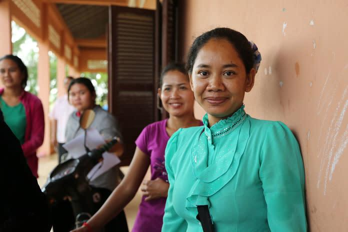 Garment workers in Cambodia, captured for Remake. | Courtesy Remake