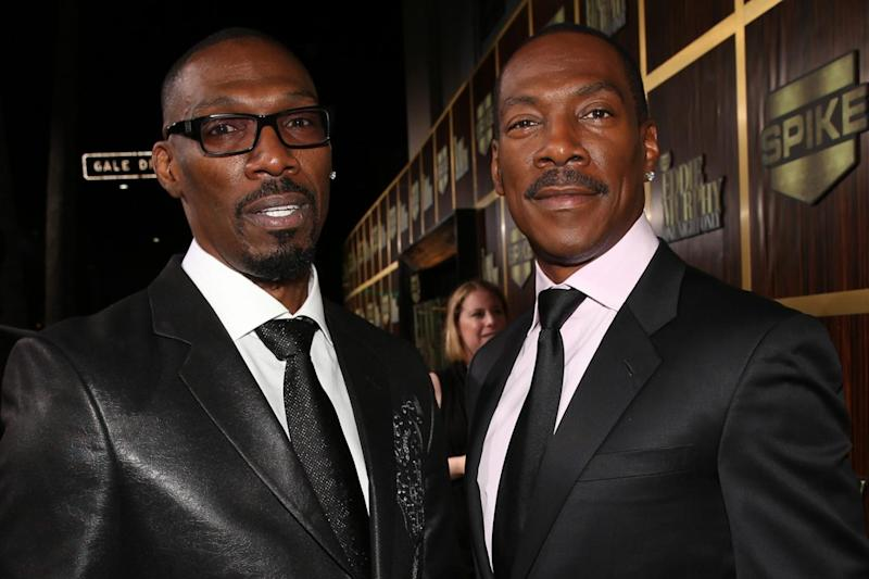 Runs in the family: Charlie with brother Eddie Murphy (Christopher Polk/Getty Images)