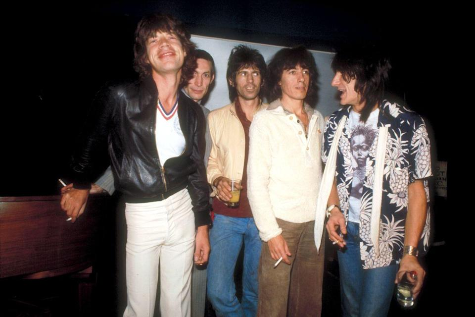 """<p>Jagger's 40th birthday was a big deal for Boomers. To mark the occasion, The Who's Pete Townshend wrote an <a href=""""https://www.rollingstone.com/music/music-news/pete-townshend-on-mick-jagger-and-the-nature-of-aging-in-rock-roll-93716/"""" rel=""""nofollow noopener"""" target=""""_blank"""" data-ylk=""""slk:essay"""" class=""""link rapid-noclick-resp"""">essay</a> for Rolling Stone magazine. That year, the Rolling Stones released their 19th studio album, Undercover. </p>"""