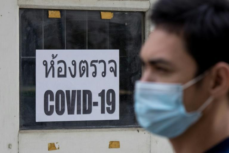 Testing centres are screening people for Covid-19 in Thailand