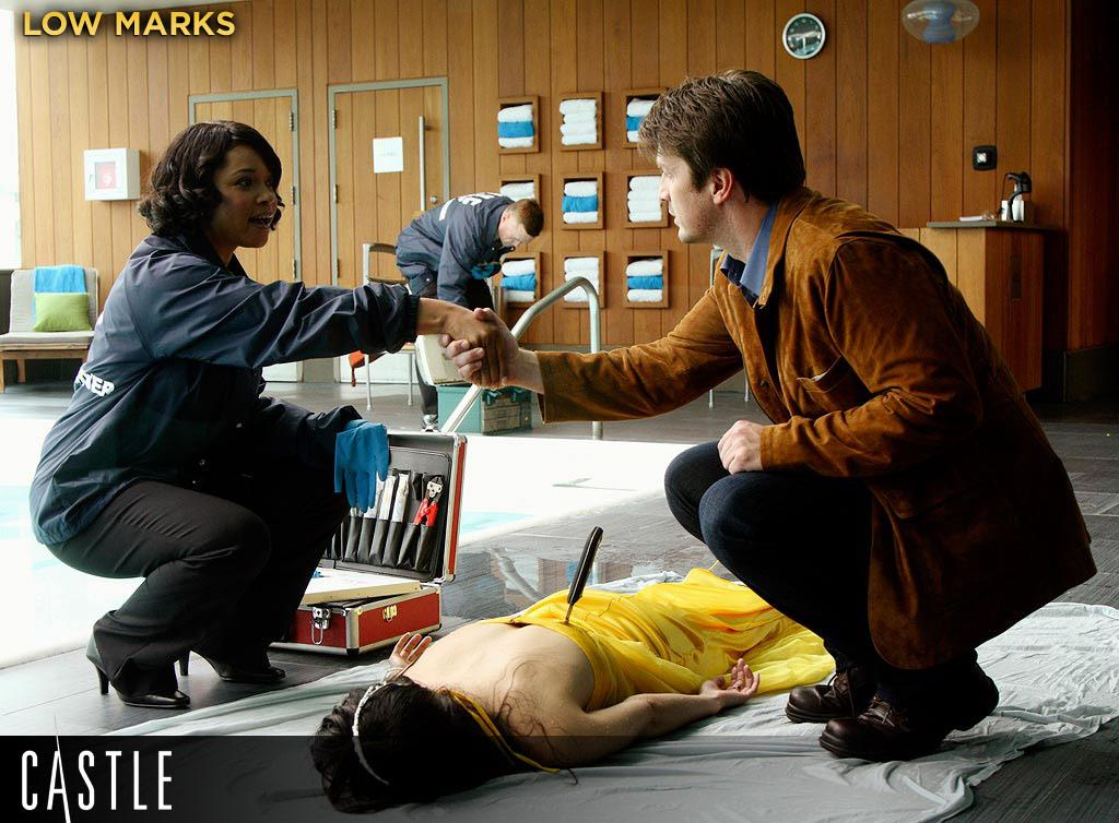 LOW MARKS: The show makes sometimes queasy shifts between two genres, romantic-comedy and homicide procedural, with little apparent empathy for the people who have to die amid all the leads' flirting. We're all for genre-blending, but not when it feels this calculated.