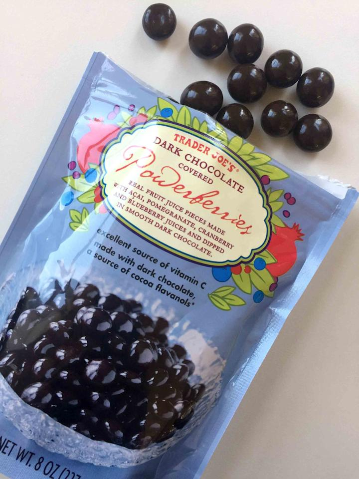 <p>You know Brookside chocolate-covered acai berries? These are just like those but even better, and you get the added bonus of all the fruits (acai, pomegranate, cranberry, and blueberry) in one bag. </p>