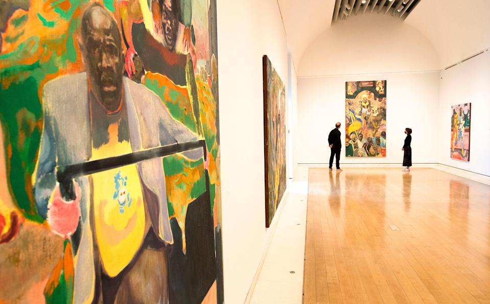 Mkokoteni and Pathos and the twilight of the idle by Michael Armitage at the Royal Academy (PA)