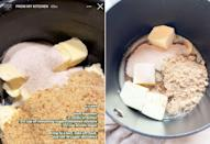 <p>In a medium pot over medium heat: </p> <ul> <li>Add 2 sticks butter. </li> <li>1/2 cup remaining cinnamon sugar mixture. </li> <li>1/2 cup brown sugar and melt together. </li> <li>Once melted, bring to a boil then take off heat and stir until sugar dissolves. </li> </ul>