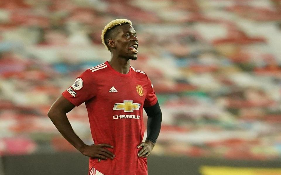 Manchester United's Paul Pogba looks dejected. - REUTERS